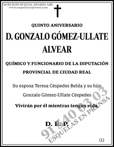 Gonzalo Gómez-Ullate Alvear